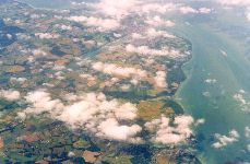 Cowes and the river Medina from the air