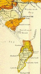 Old Geological Map of  Portland