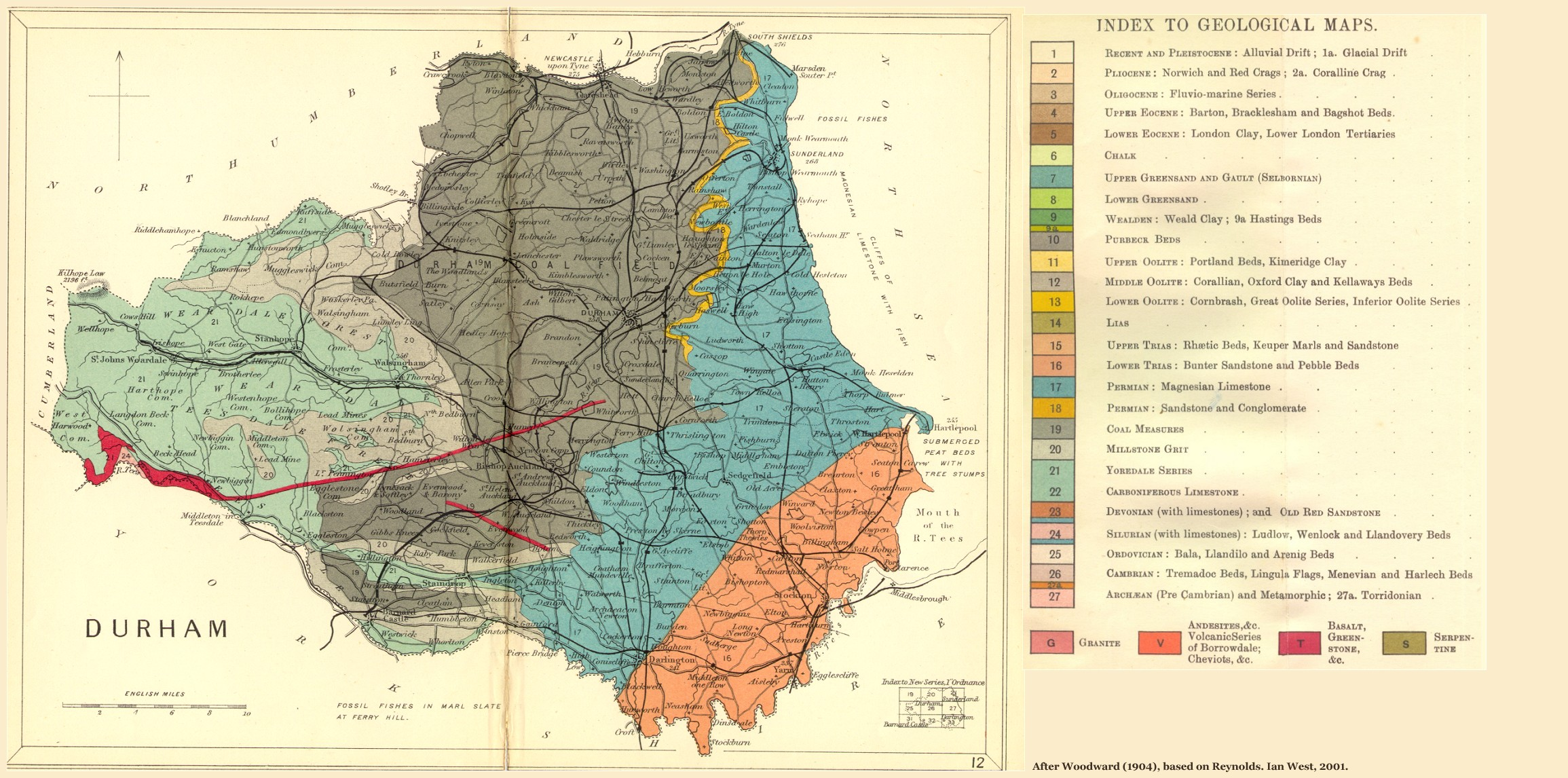 Map Of North England Uk.Geology Of Great Britain Introduction And Maps By Ian West