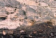 Fumerole in fallen debris