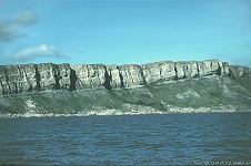 Gad Cliff from the sea
