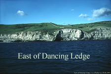 East of Dancing Ledge from sea, 1997, photograph by Dr. Clive Boulter
