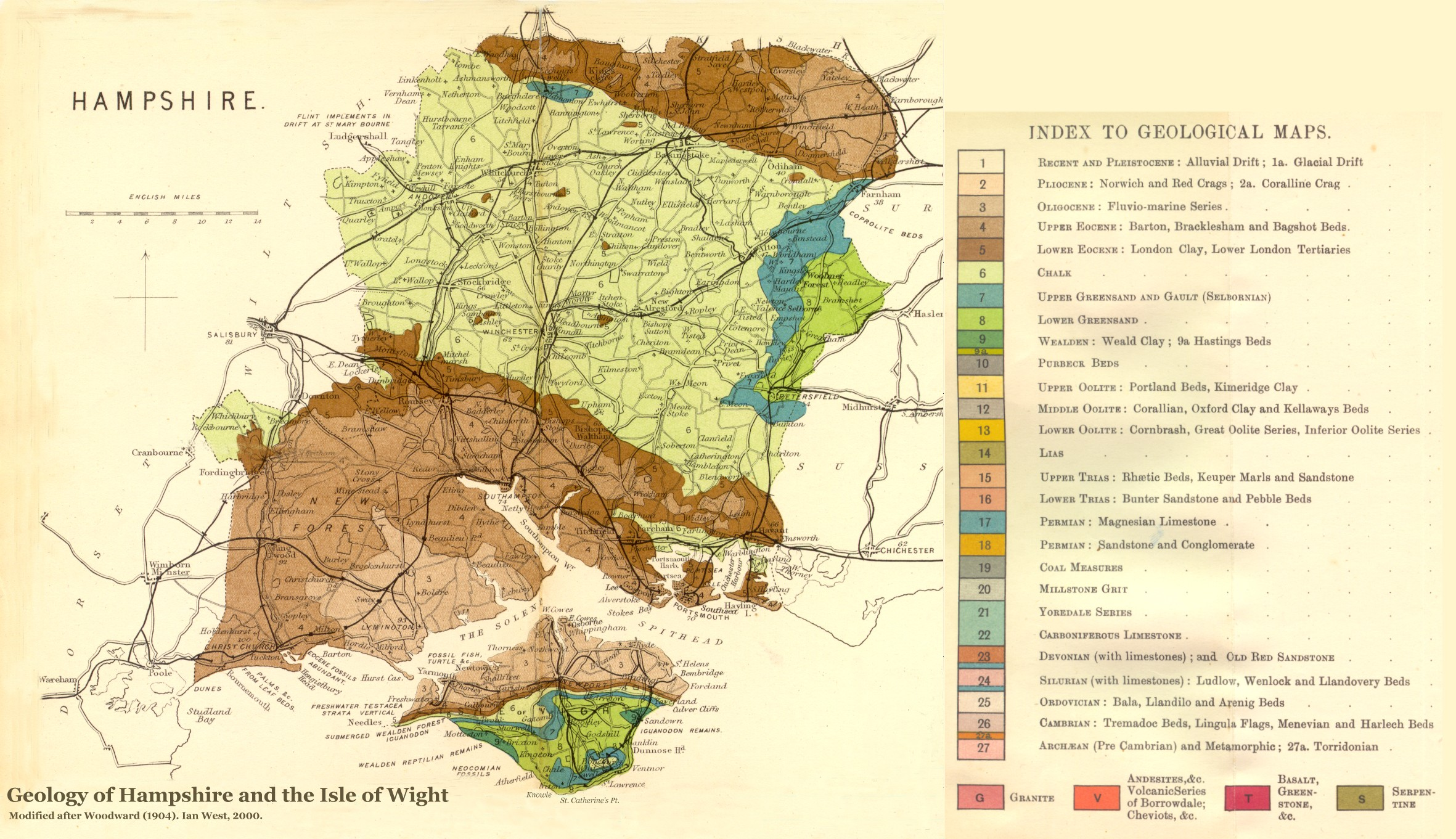Map Of Uk Hampshire.Geology Of The Central South Coast Of England Introduction And Maps
