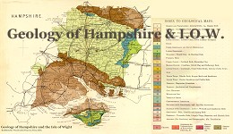Geological map of Hampshire