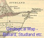 Geological Map of the Swanage and Studland Area, after Braye, 1890, enlarged detail