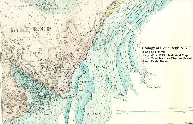 Geological map - east of Lyme Regis
