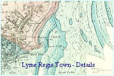 Geological map of Lyme Regis town