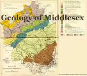 Geological map of Middlesex