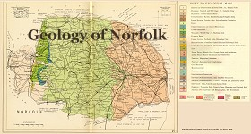Geological map of Norfolk