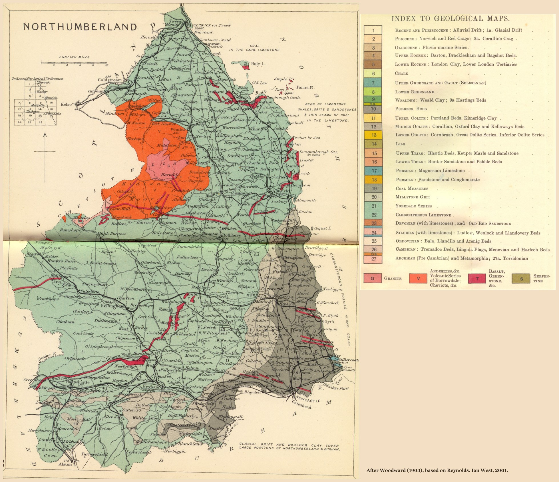 Map Of England Northumbria.Geology Of Great Britain Introduction And Maps By Ian West