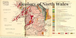 Geological map of North Wales