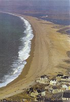 End of Chesil Beach, old photo, 1960s?
