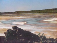 Reconstruction of drying Purbeck lagoon with evaporites