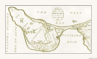 Old map of Portland and Chesil
