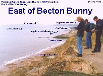 Terminal scour east of Becton Bunny