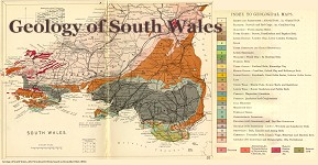 Geological map of South Wales