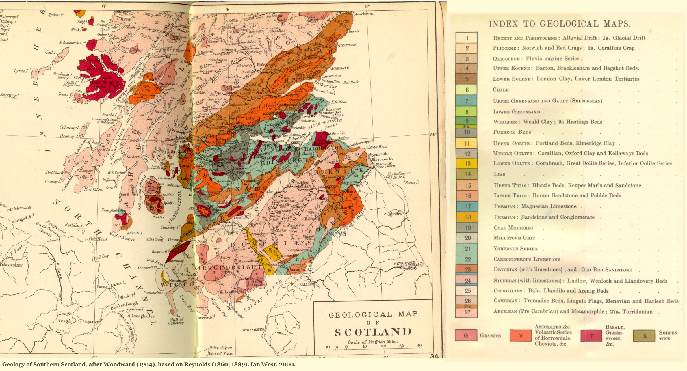 Uk Map Of Britain.Geology Of Great Britain Introduction And Maps By Ian West