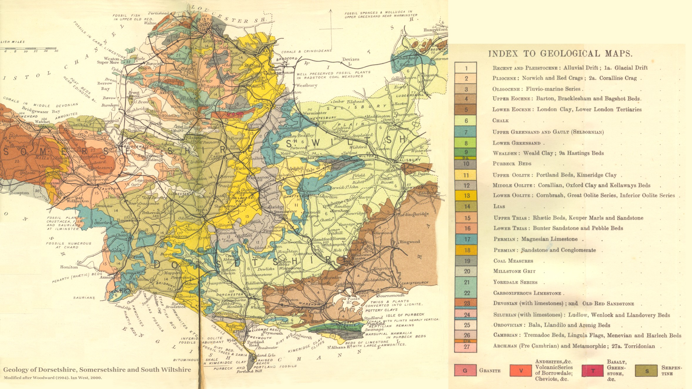 Show Map Of England.Geology Of The Central South Coast Of England Introduction And Maps