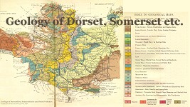 Geological map of Dorset and Somerset