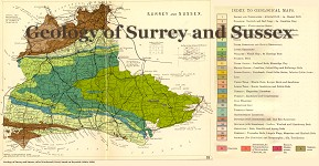 Geological map of Sussex