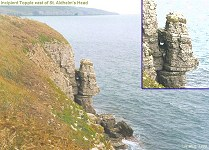 Incipient topple east of St. Aldhelm's Head