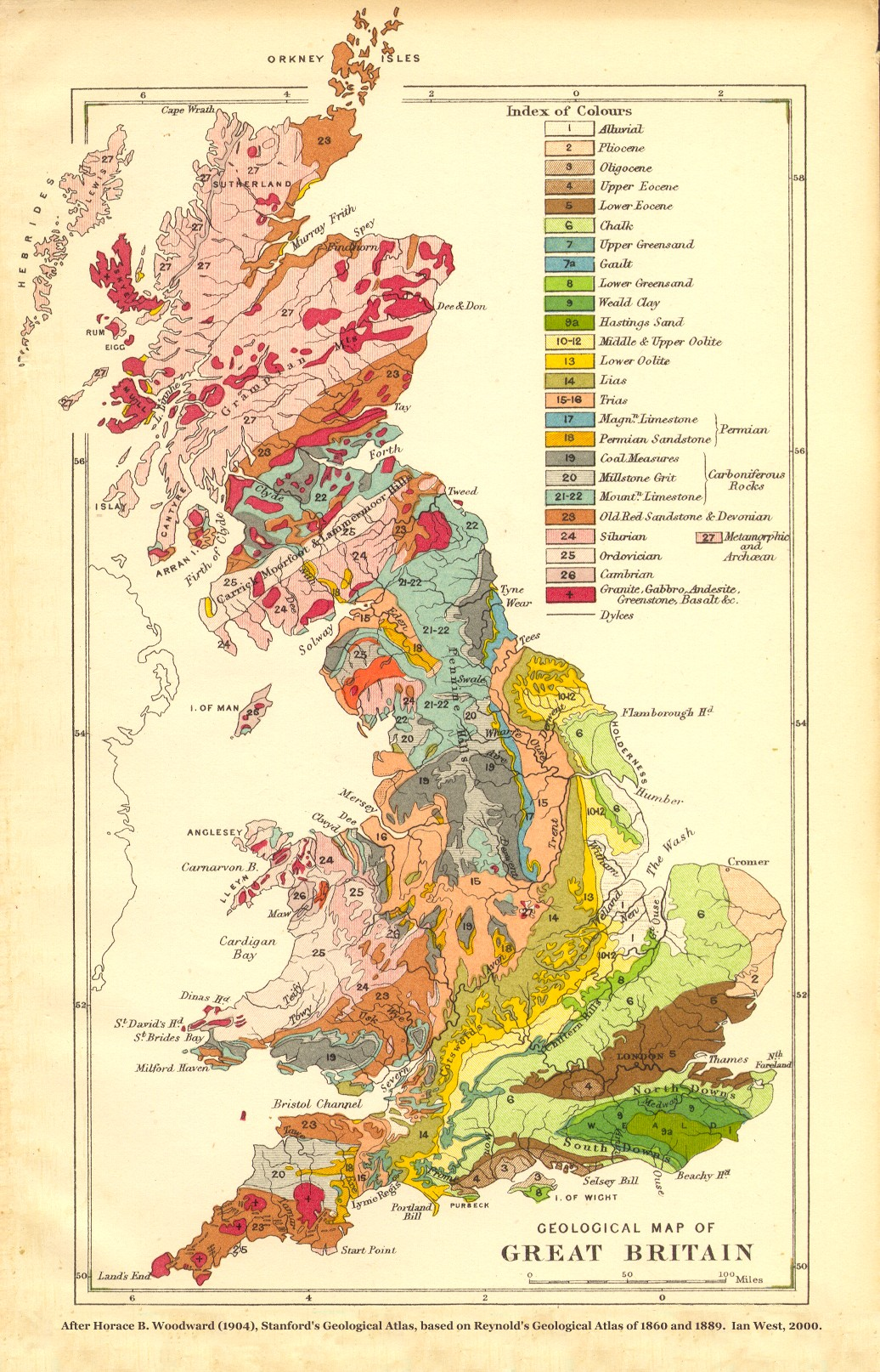 Map Of England Uk.Geology Of Great Britain Introduction And Maps By Ian West