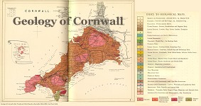 Geological map of Cornwall
