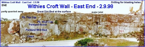 Withies Croft Wall - Eastern End - photo