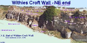 Withies Croft Wall - northeastern part