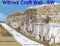 Withies Croft Wall - southwestern section
